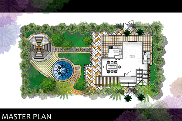 Landscape villa hurghada on behance for Villa landscape plan