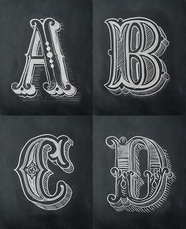 Chalk Alphabet On Typography Served