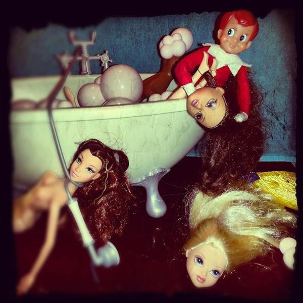elf Christmas funny doll Shelf graphic design art director photo creative bad
