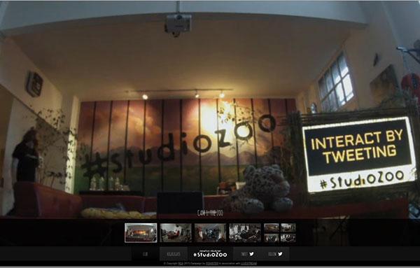 Newton Faulkner studio zoo web campaign