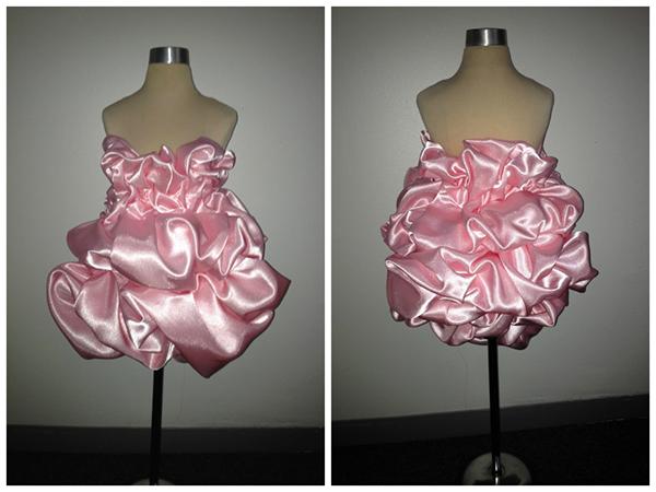 draping SILK pink dress risd