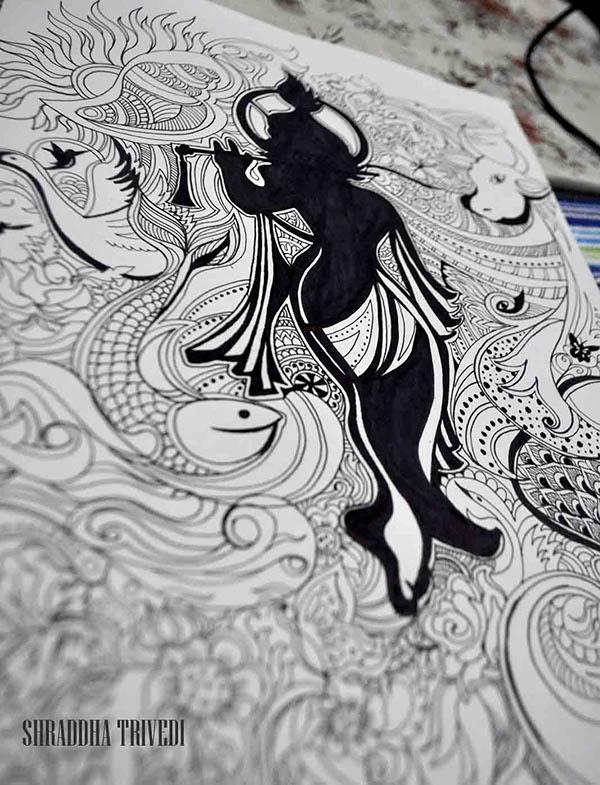 Lord Krishna Illustration On Behance
