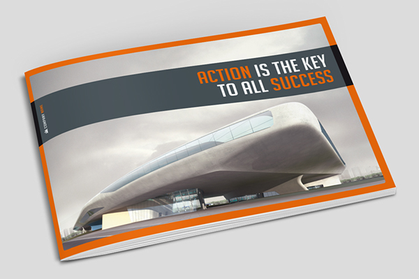 Business Horizontal Brochure On Behance - Horizontal brochure template