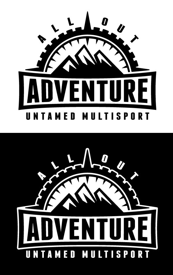 all out adventure logo design on behance