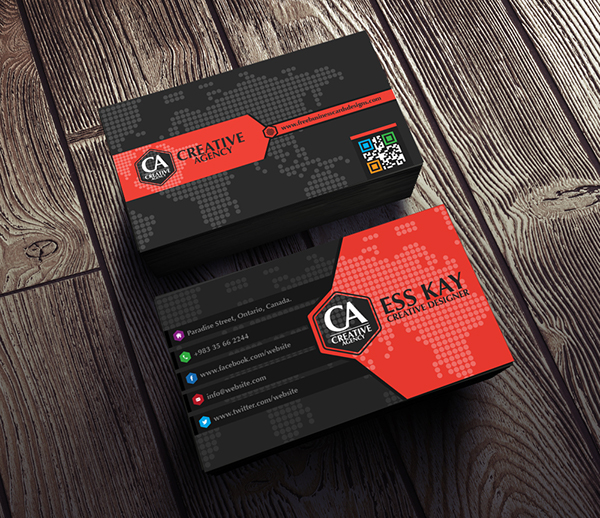 Creative agency business card 2015 on behance reheart Gallery