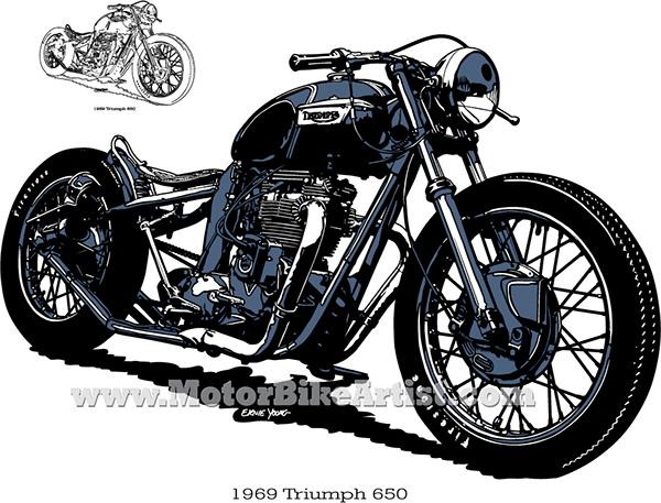 triumph bobber vintage motorcycle vector art drawing on behance rh behance net indian motorcycle vector art motorcycle rider vector art