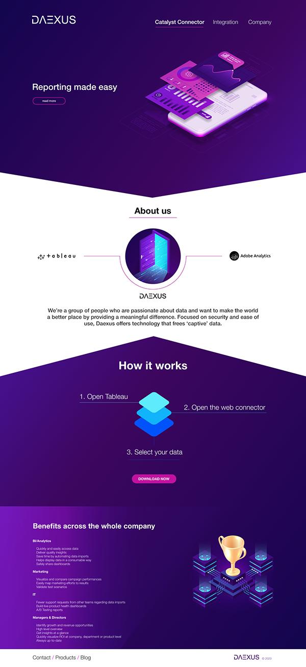 Daexus web design concept