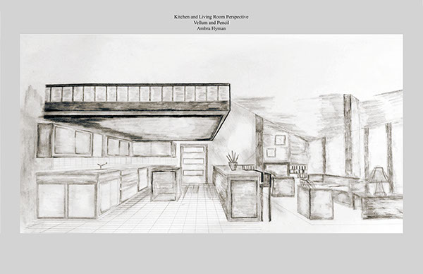 Kitchen Use Wares Pencil Sketches : ... room, kitchen and office. The mediums used are pencil and vellum