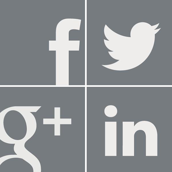 Social Media Icons Grey