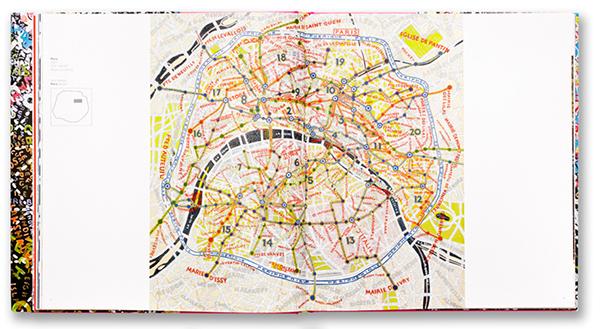 """strona z książki """"MAPS"""" Paula Scher"""