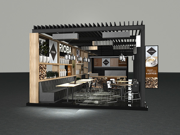 Small Exhibition Stand Alone : Rioba modular coffee shop on behance