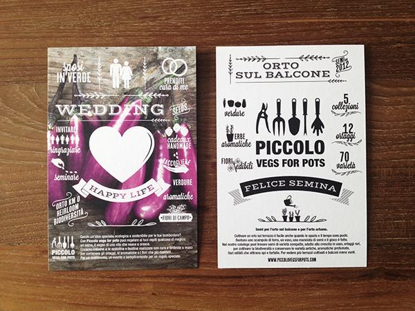 postcard wedding type graphic vegs seed vintage cartoline design promo Plant flower