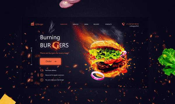 Online Burger Shop (Landing Page)