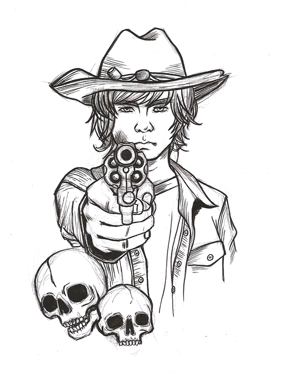 Walking dead carl drawing furthermore Hairstyle Reference For Artists as well Character Design additionally Daryl Dixon Coloring Sketch Templates also THE WALKING DEAD Carl Grimes. on twd coloring pages
