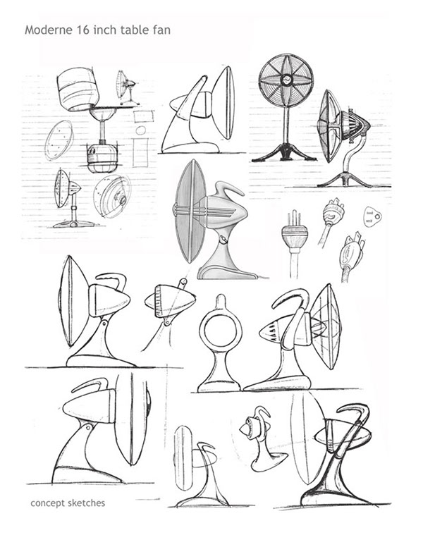 A Sketch Of A Electric Fan : Casablanca moderne table fan on behance