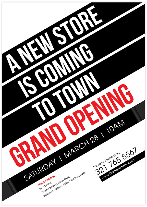 New Store Grand Opening Flyer On Behance