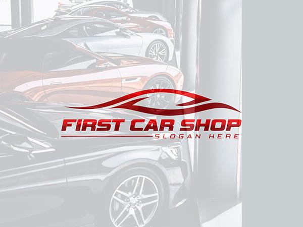 Car Shop Logo, Modern Car Logo