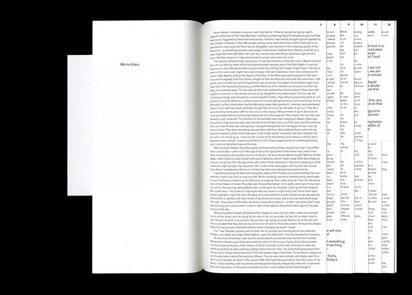 Conceptual book design — The Tomorrow Book