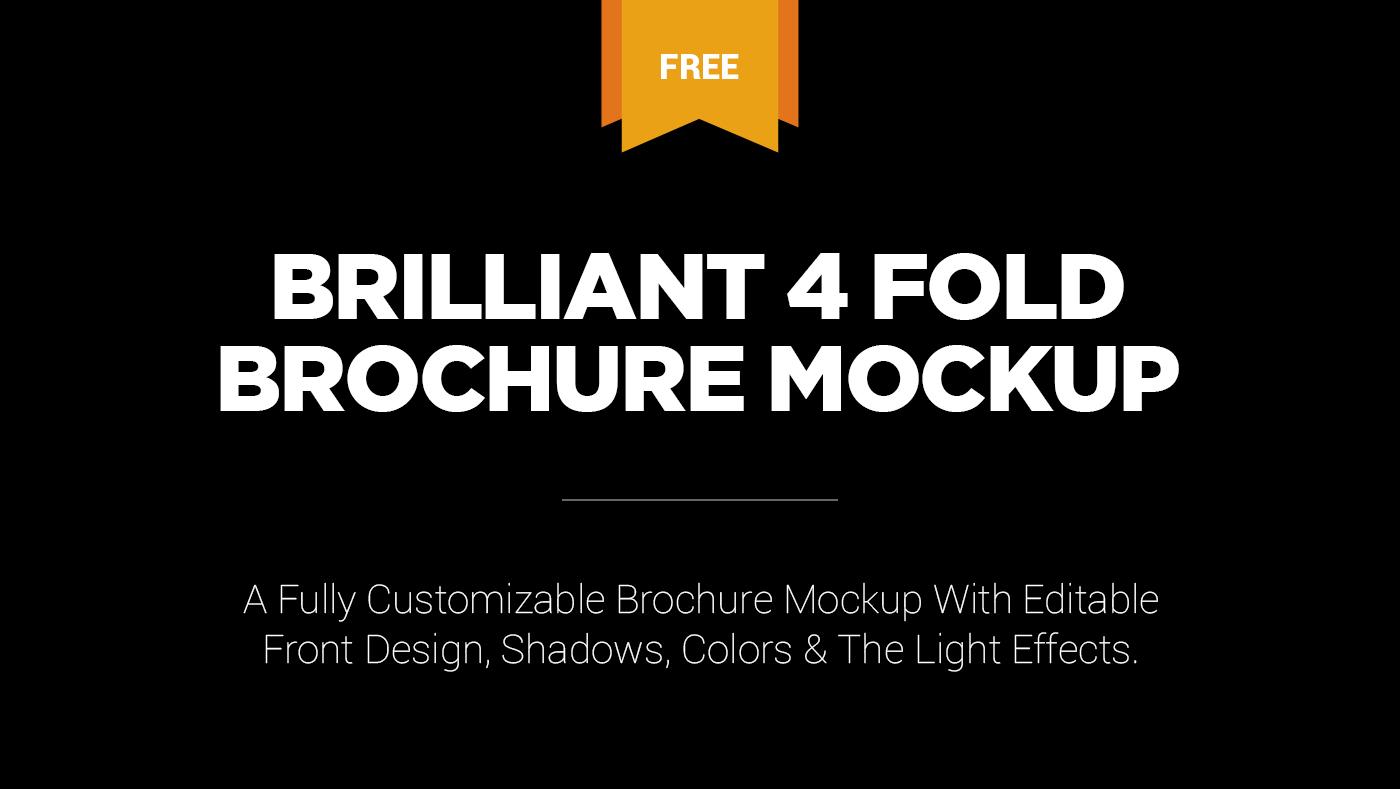 free brilliant 4 fold brochure mockup on behance