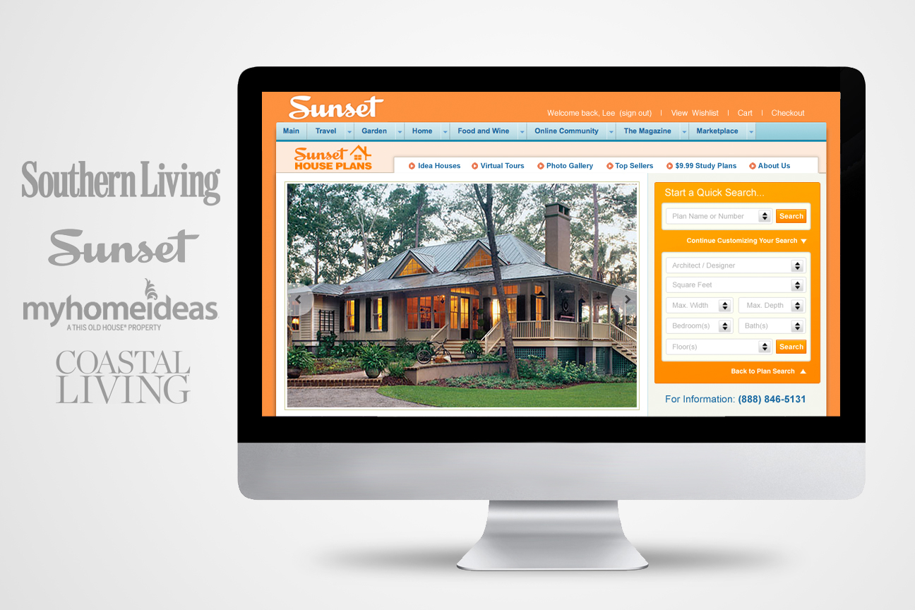 UI Design, CSS And Html Of House Plans Marketplace Templates. Designed To  Nest And Function Seamlessly Within SouthernLiving, Sunset, MyHomeIdeas And  ...