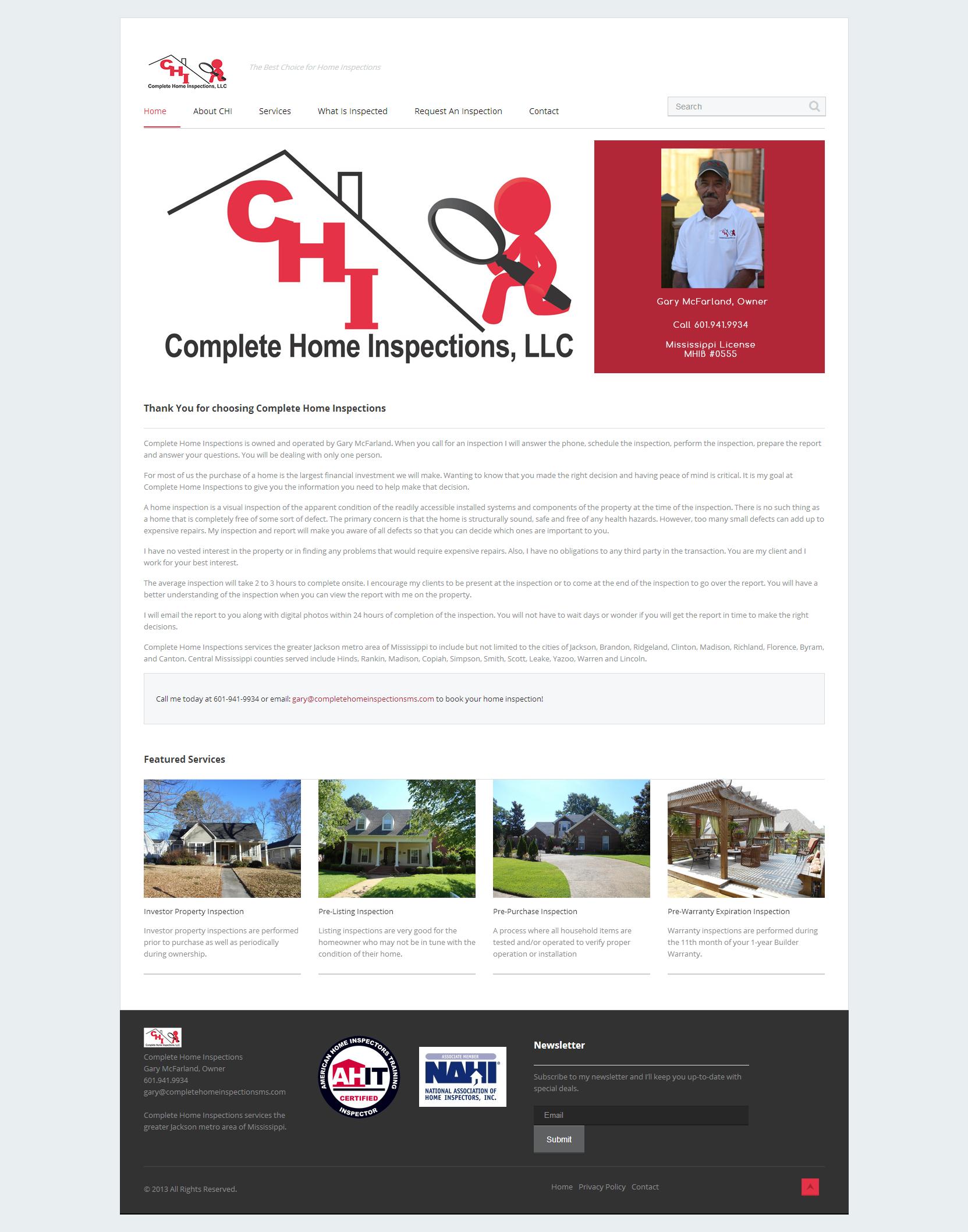 Jeff Childress - Web Designer, Jackson MS - Complete Home Inspections