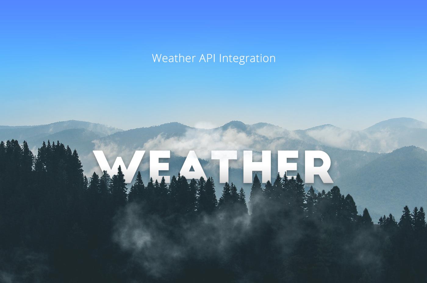 Weather API ingegration on Behance