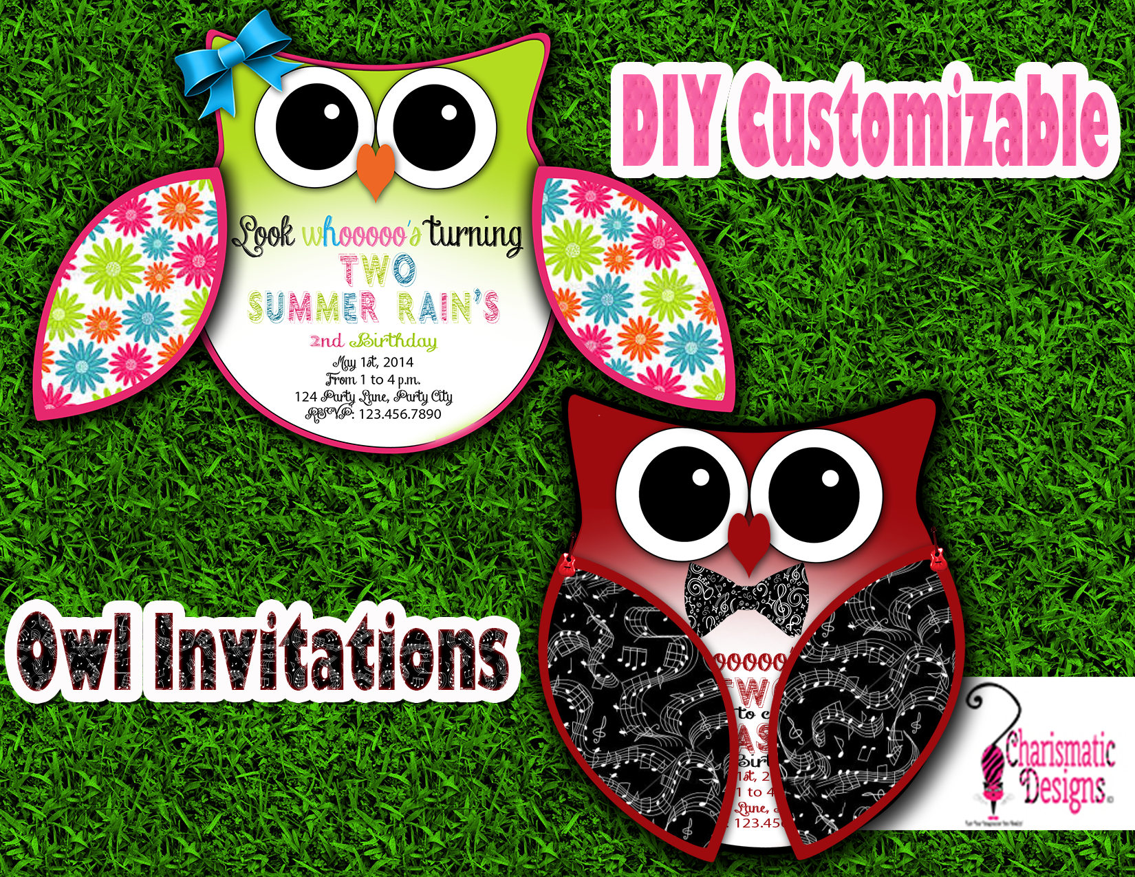 image relating to Free Owl Printable Template named Totally free Do it yourself Customizable Owl Invitation Printable Template upon