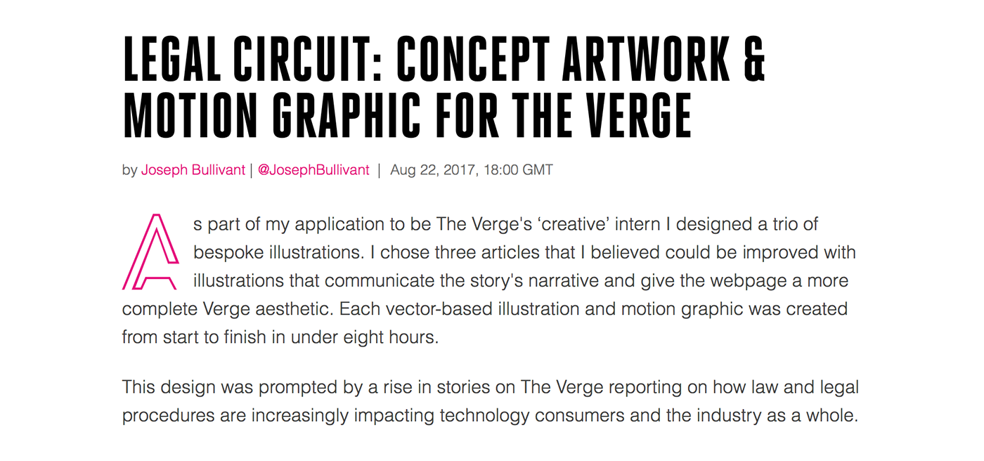 Legal Circuit Dynamic Concept For The Verge On Behance Complete Thank You
