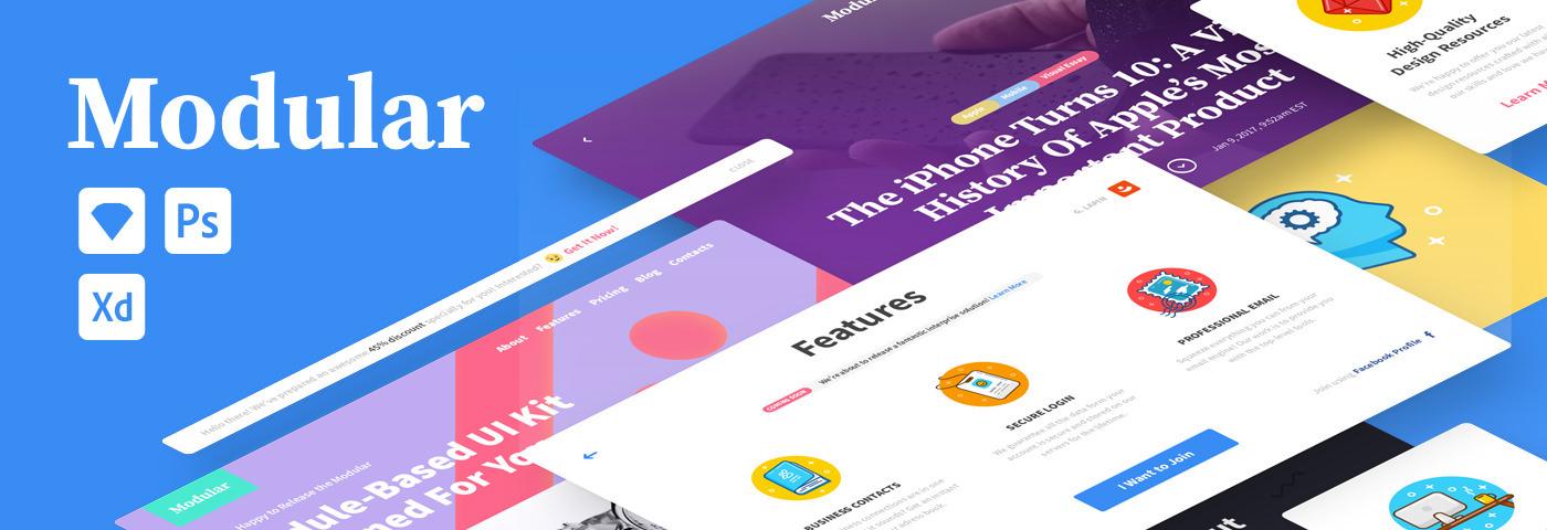 Modular: Conceptual UI Kit on Behance
