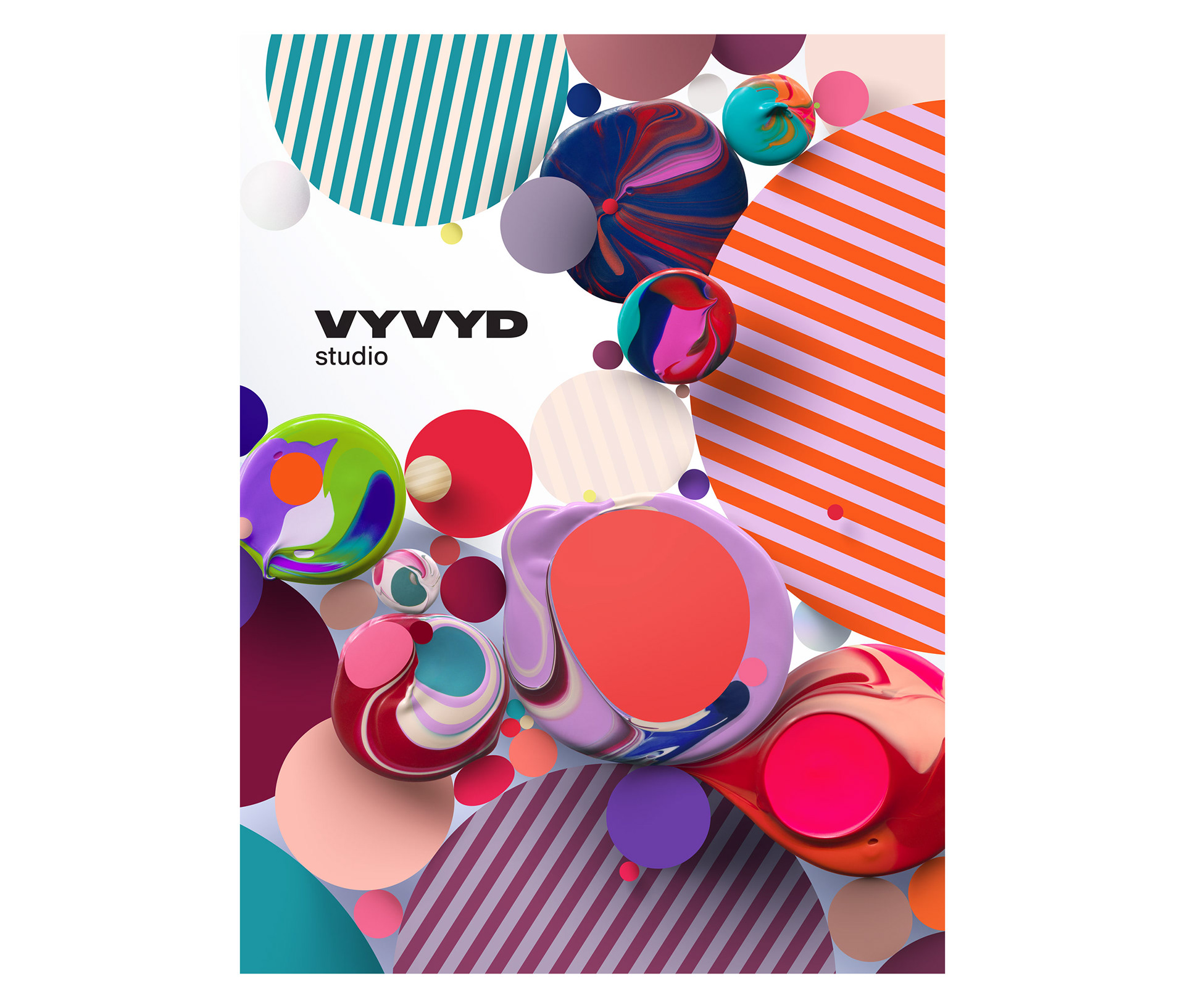 Art pieces made of 24 brand colors for VYVYD Studio - Digital Art