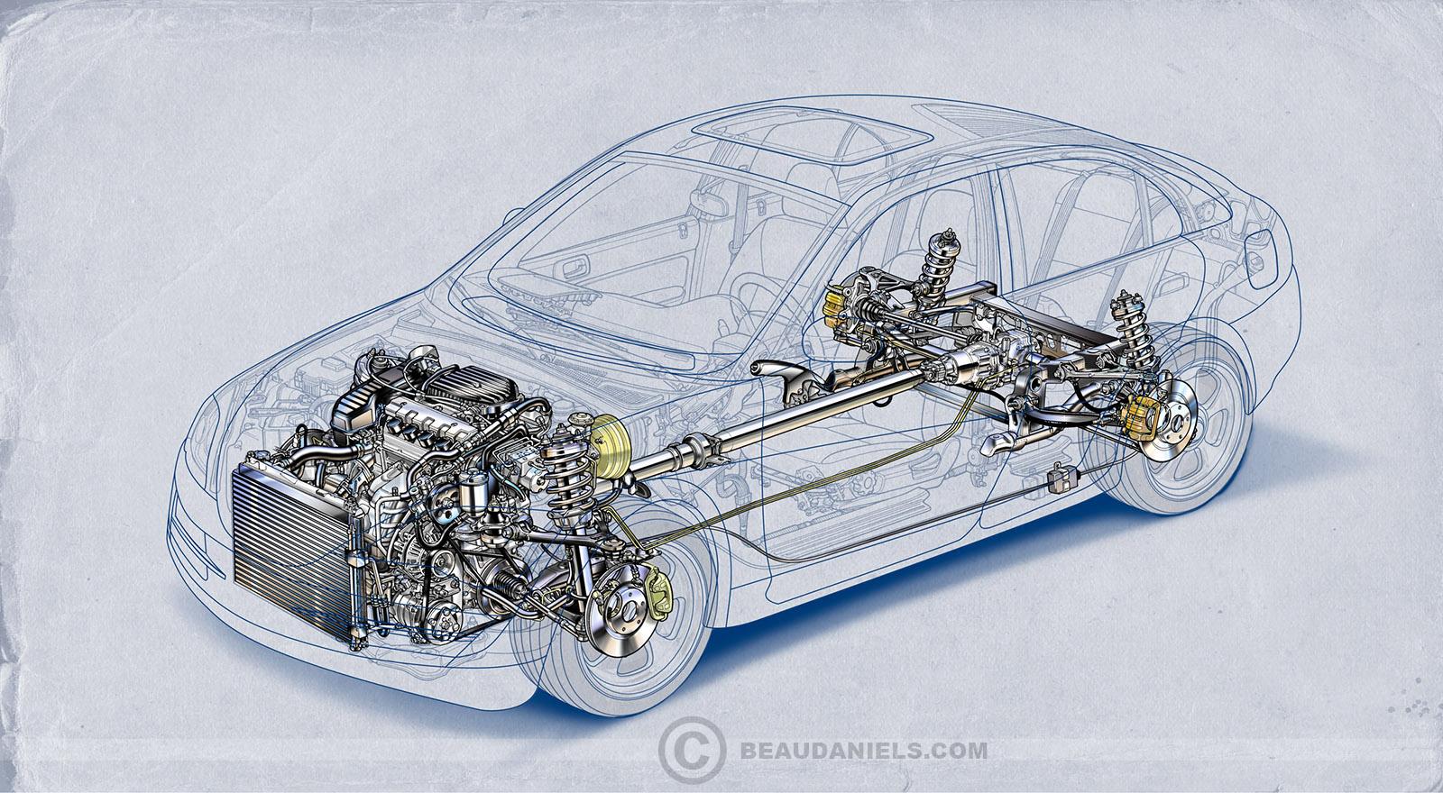 Generic Car Diagram All Kind Of Wiring Diagrams Auto Stock Vehicle Illustrations Portfolio 2 On Behance Rh Net Clip Art Bill