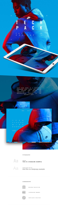 Nike Tech Pack in-store app on Behance a5d46b2c4214