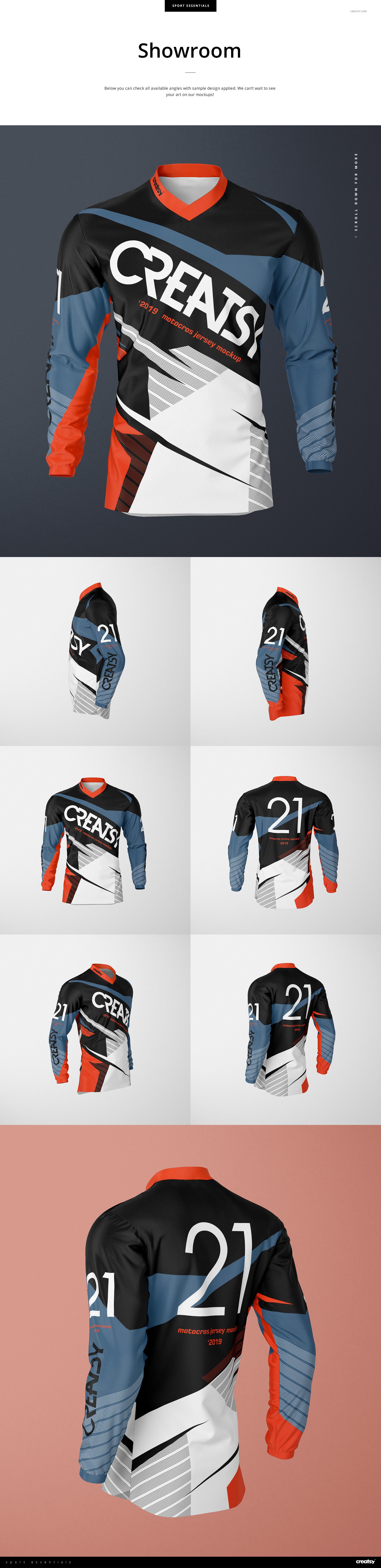 Motocross Jersey Mockup Set On Behance