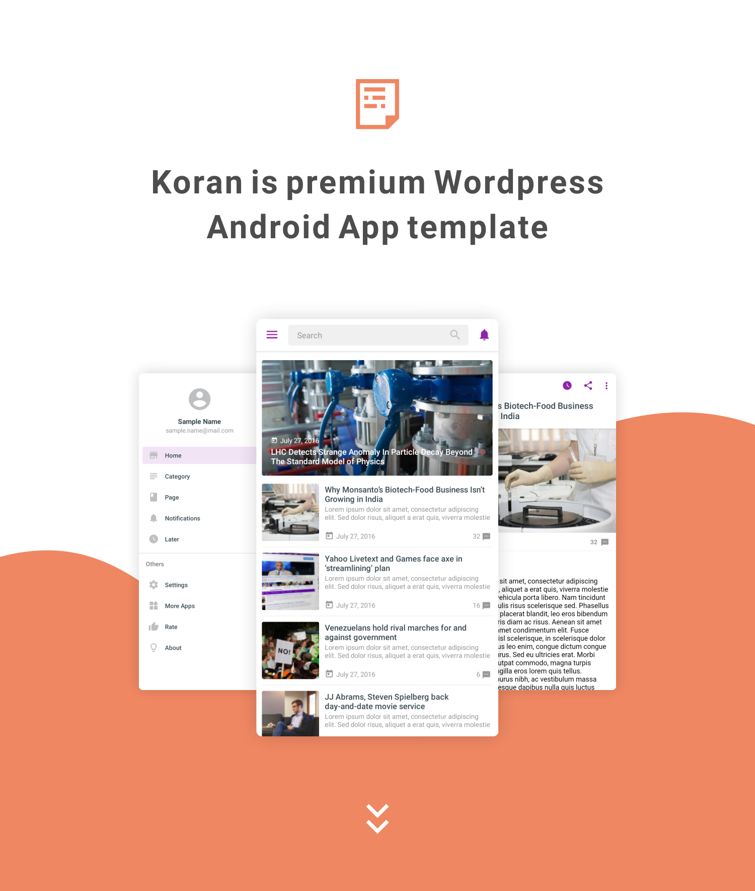 Koran - WordPress Android Application 5.0 - 1