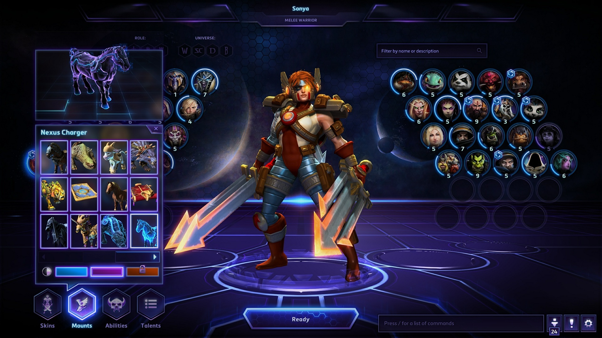 Heroes Of The Storm Ui Design On Behance