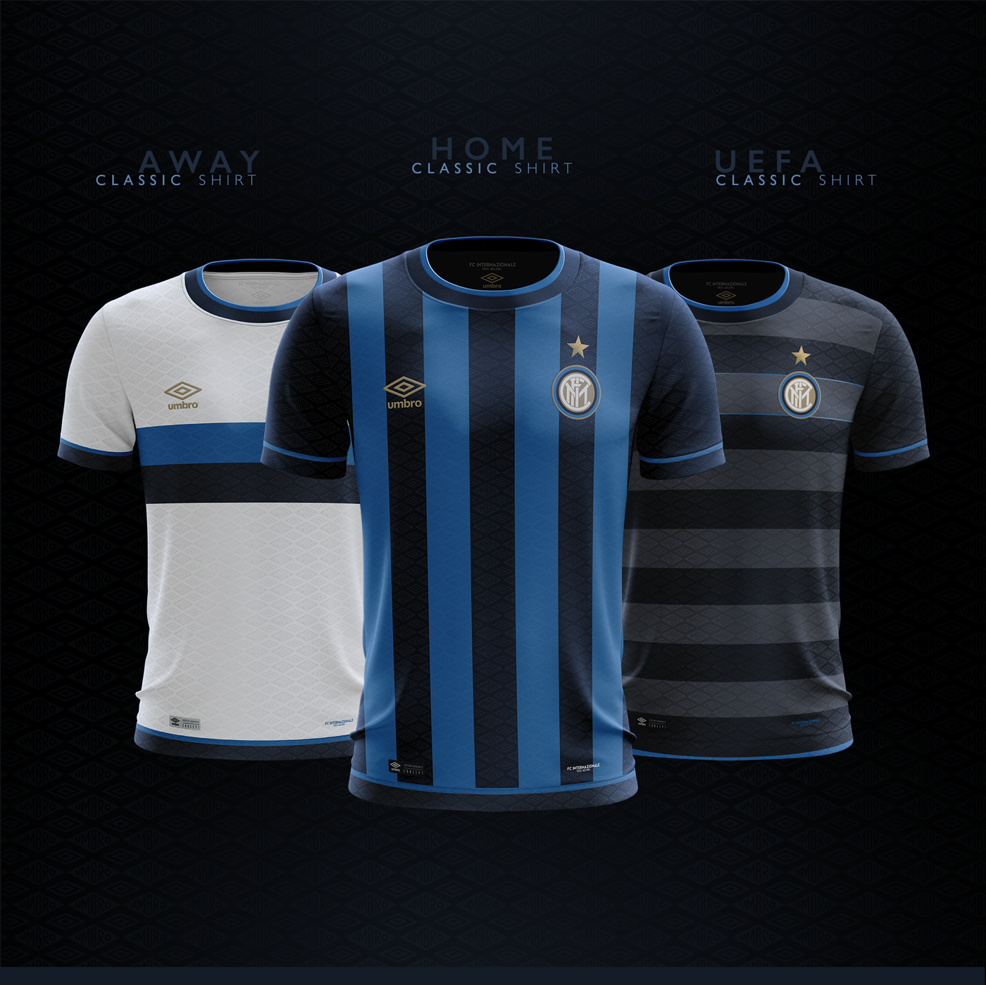 89d8fd5aef5 Classic Shirts Concept | Umbro | FC Internazionale on Behance