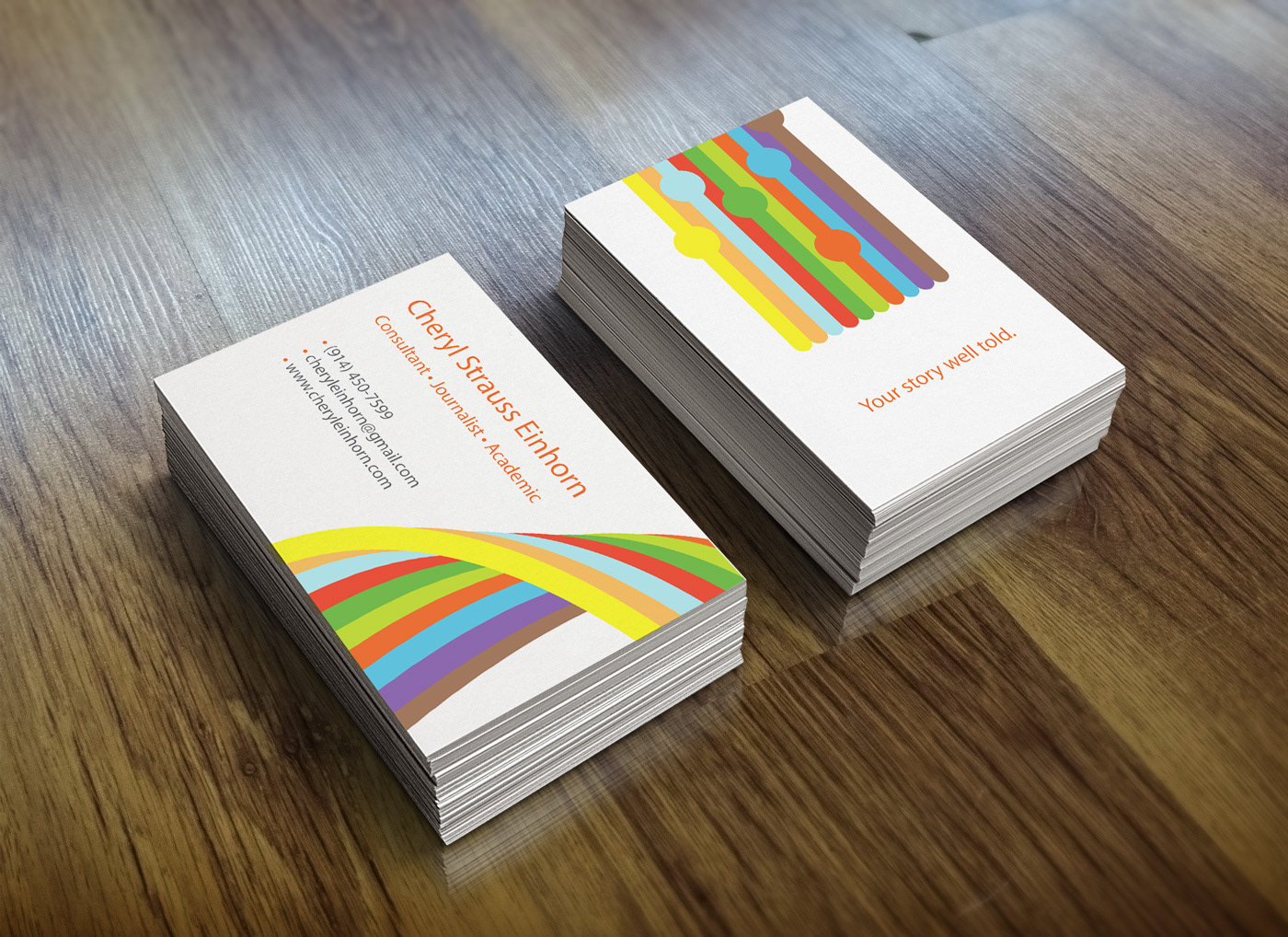 Cheryl einhorn branding business cards on behance cheryl teaches as an adjunct professor at columbia business school and has won several journalism awards for her investigative stories about international reheart Choice Image