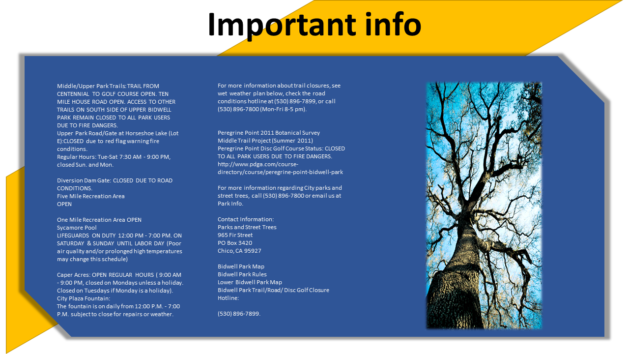 Brief For Bidwell Park Website Chico California On Behance