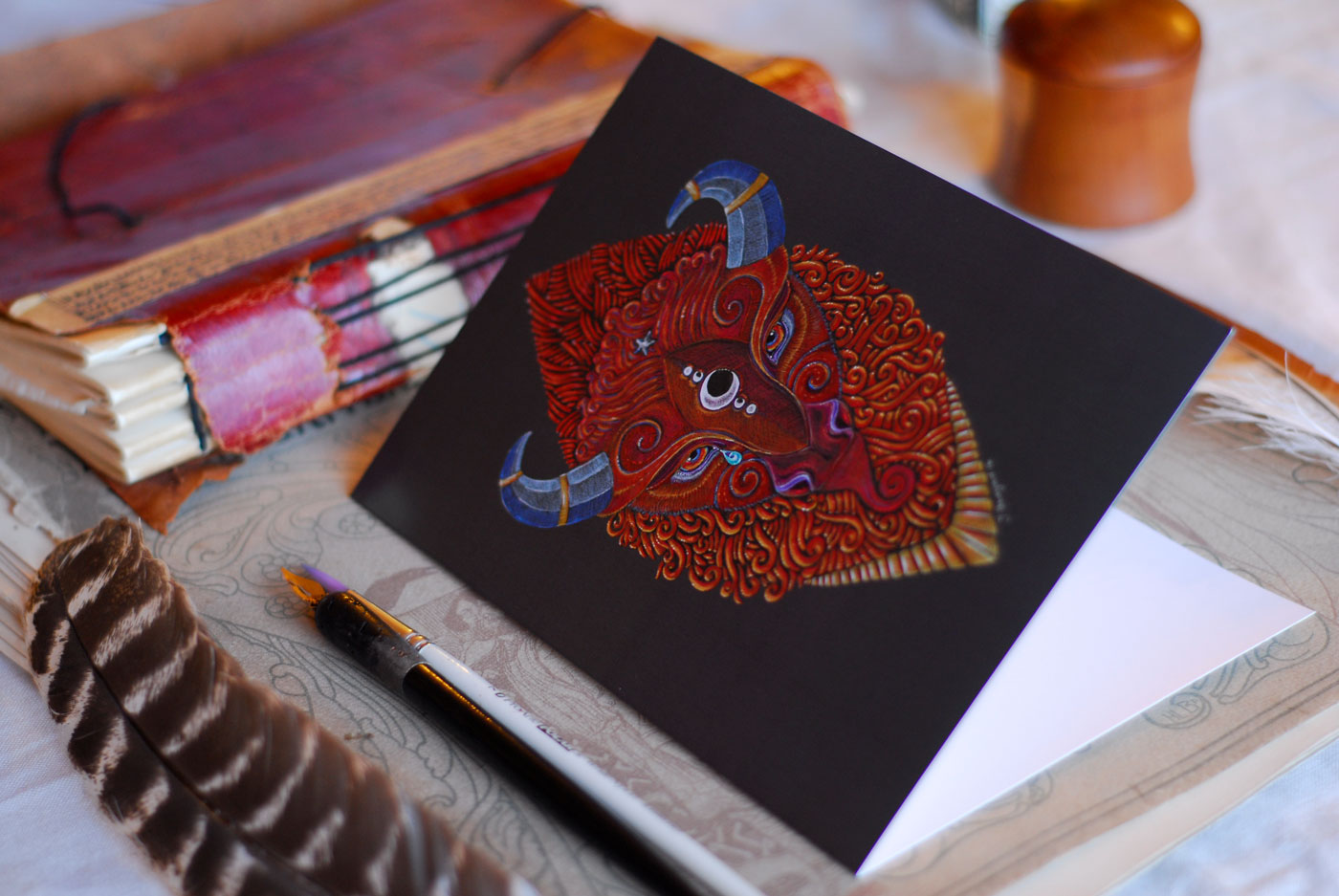 Greeting cards of Bison Totem are available from my Etsy Store