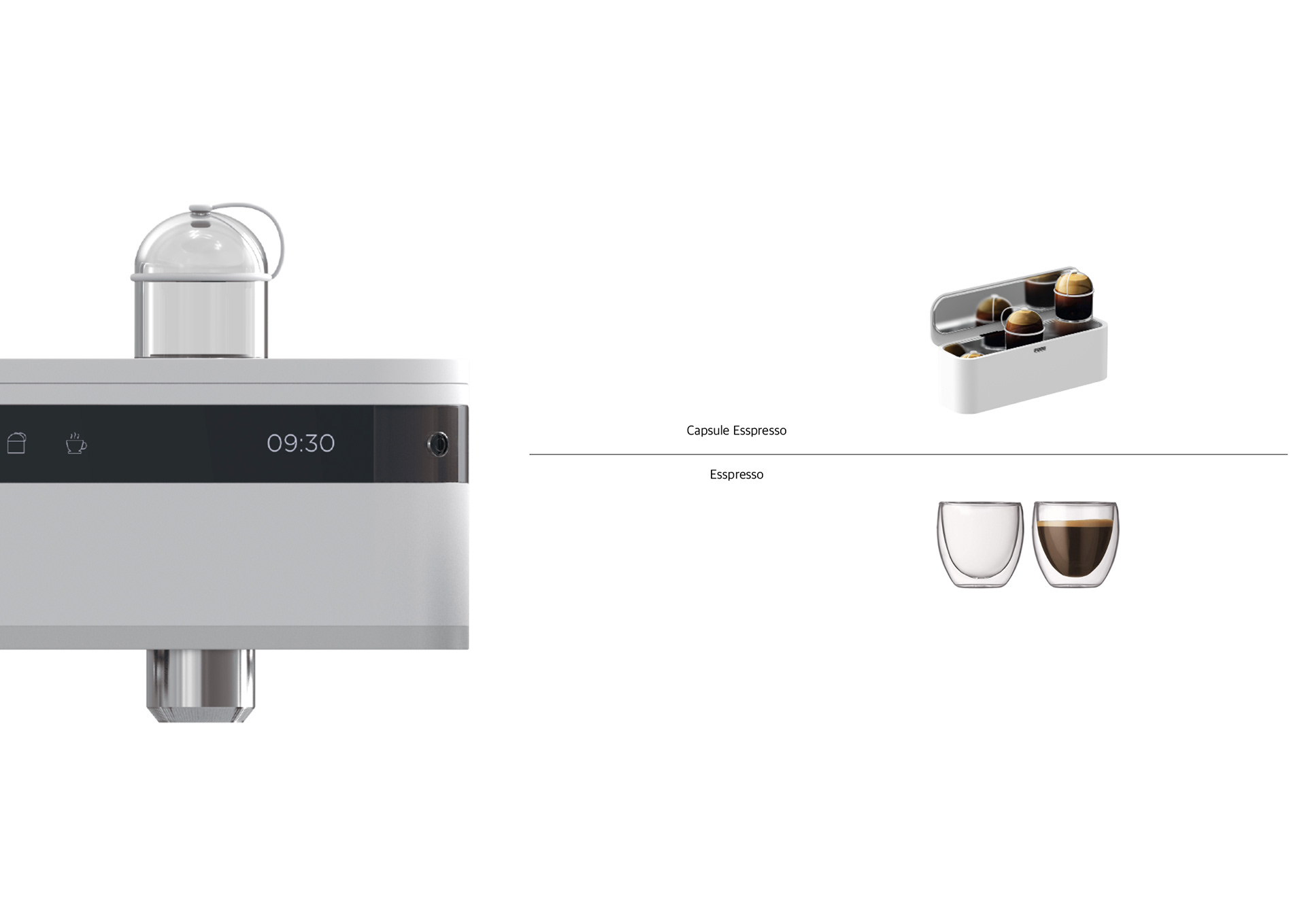Designing your own capsule expresso on the go - Industrial Design