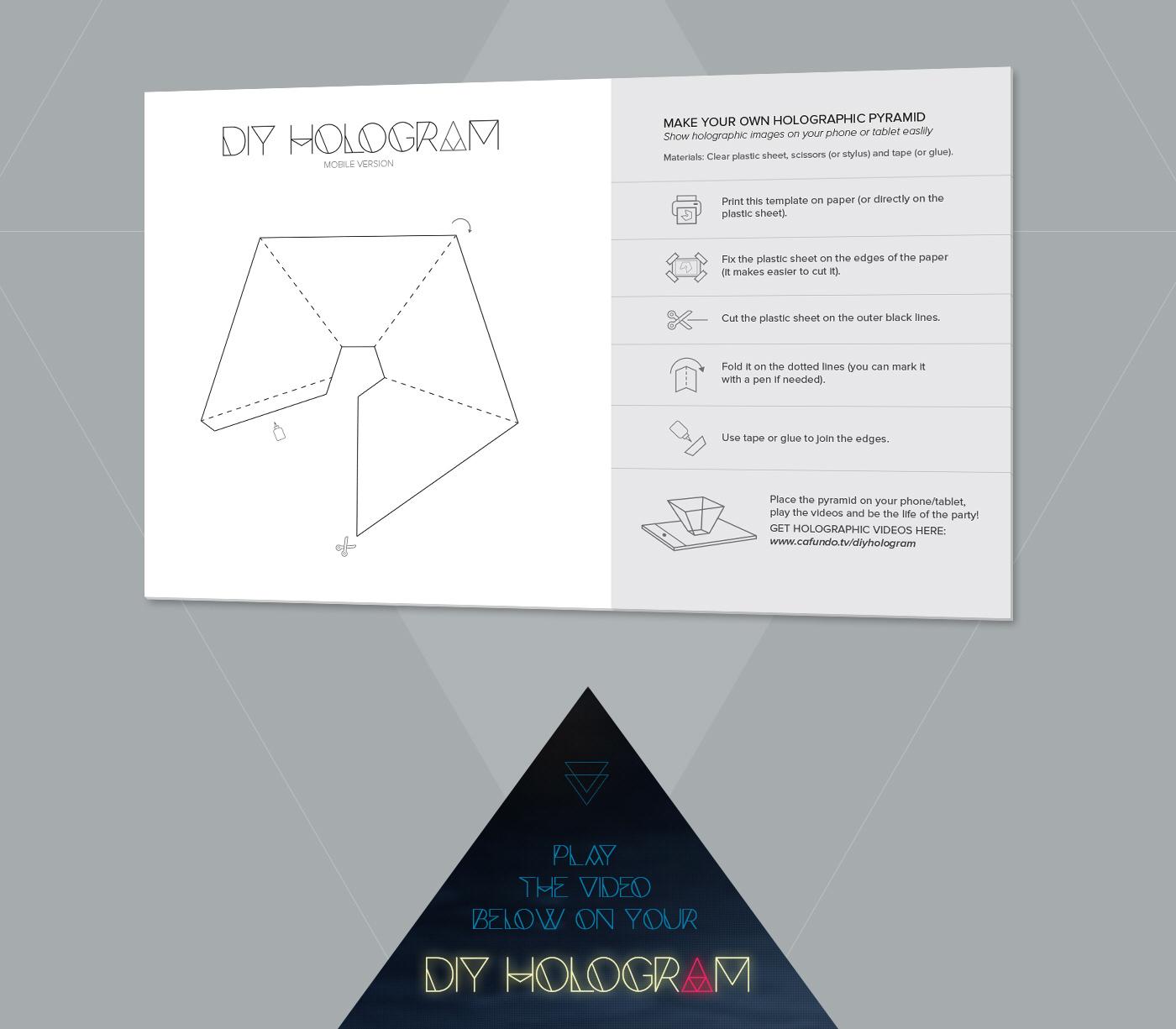 DIY Hologram Pyramid on Behance