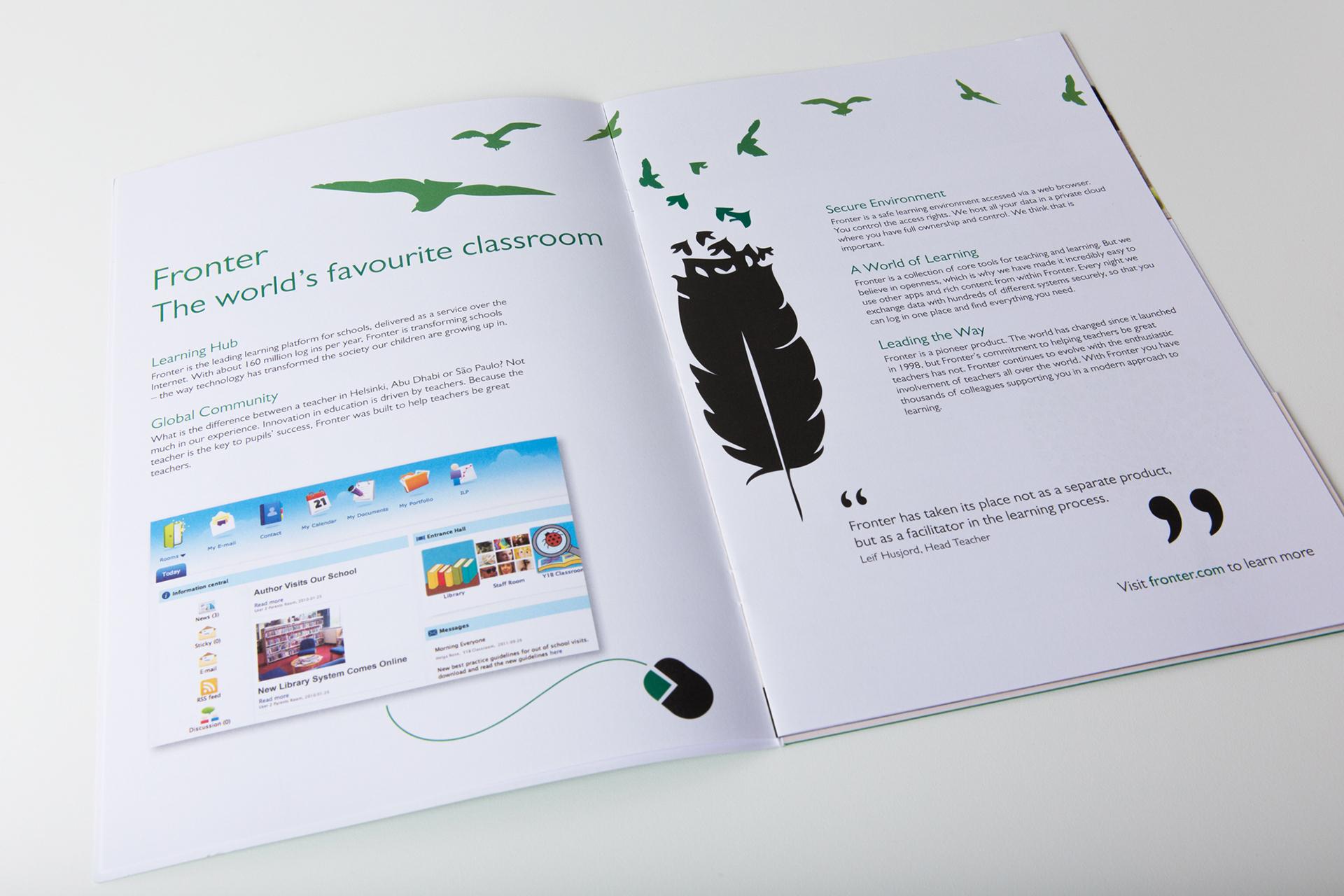 Digital platform brochure on Behance
