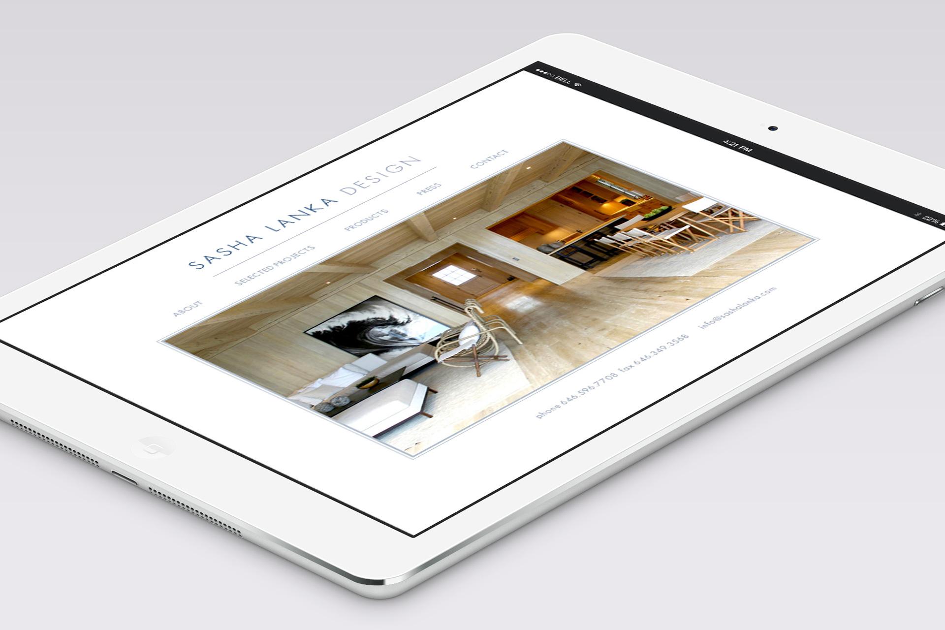 Responsive Website design for Interior Designer