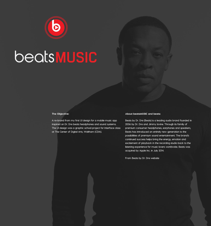 Beats Music - Branding Project - Mobile App (Concept) on Behance
