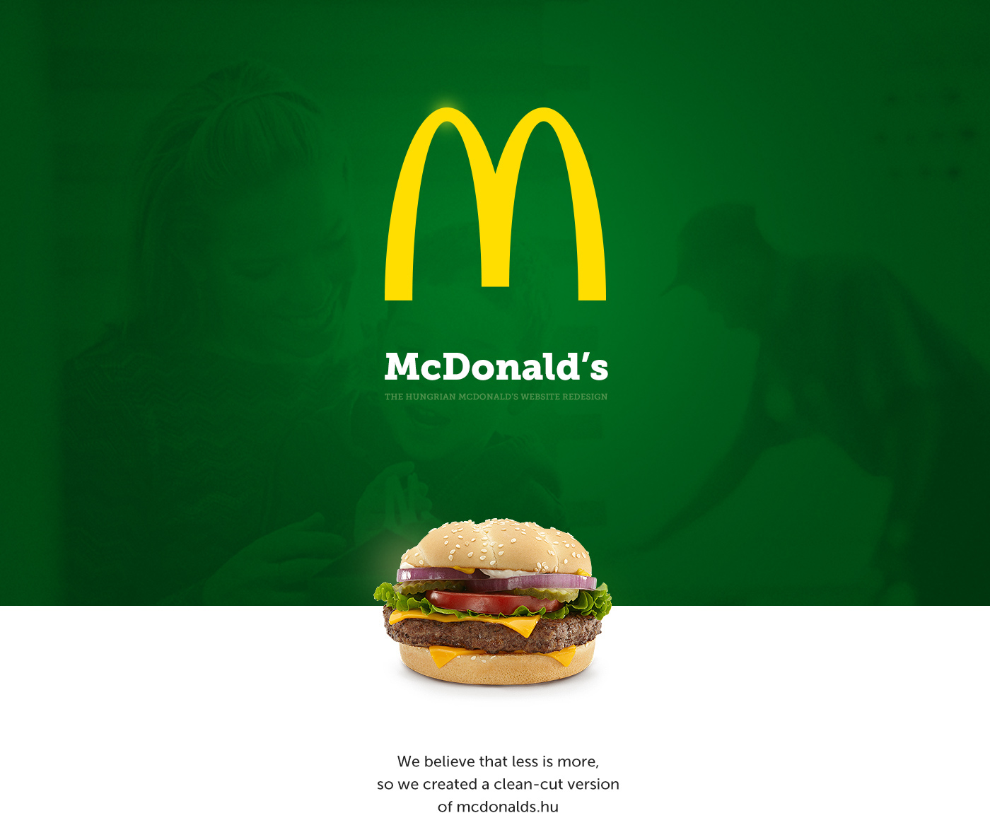 The Hungarian Mcdonald S Website S Redesign On Behance