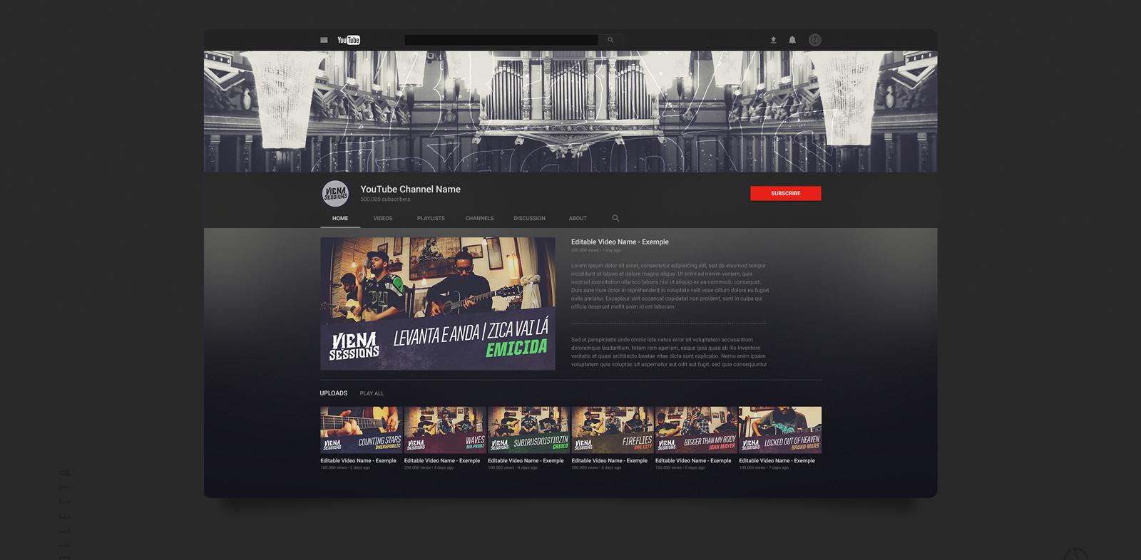 Free Mock-up | YouTube Channel Art on Behance