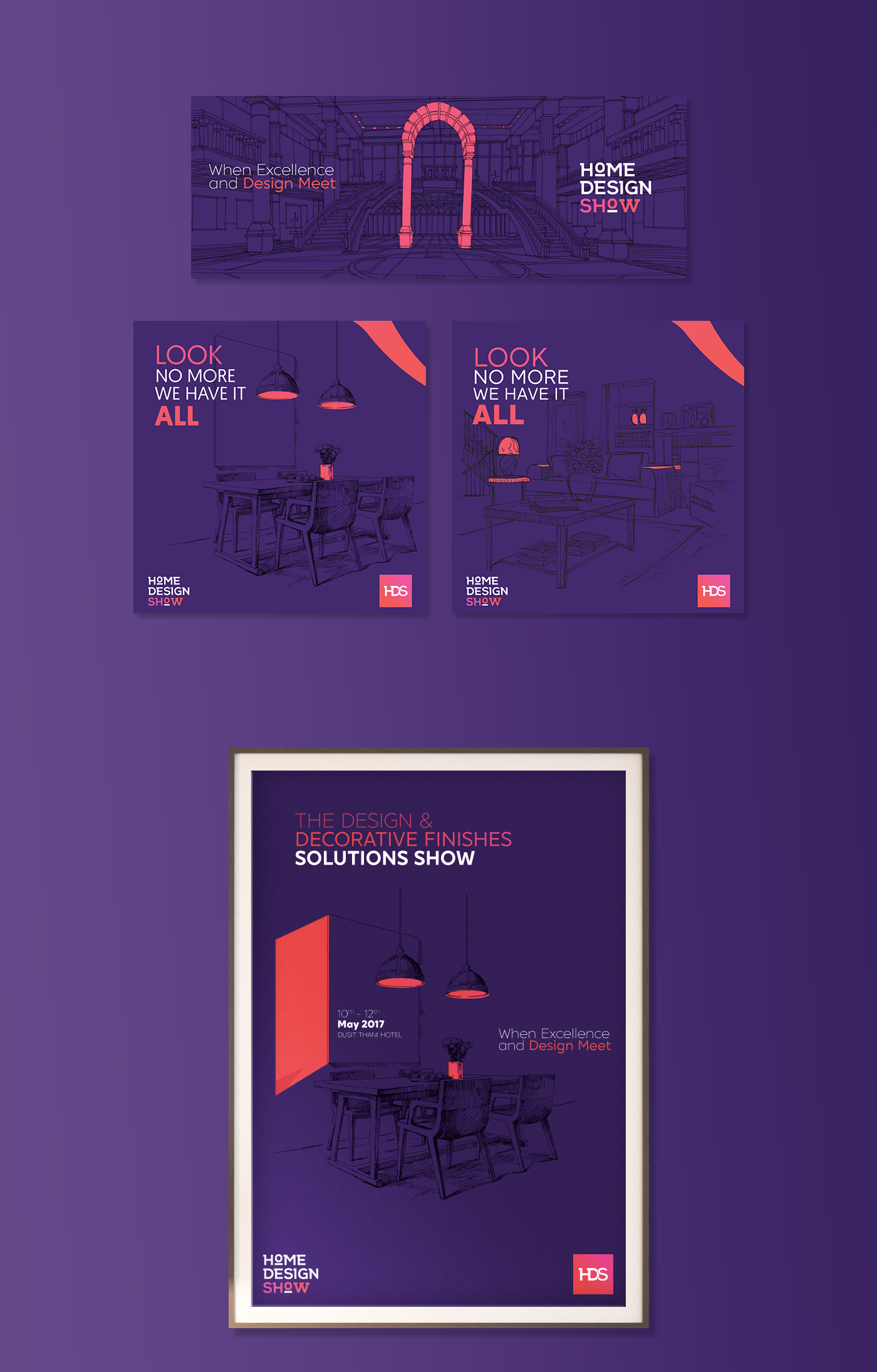 Home Design Show Visual Identity On Behance