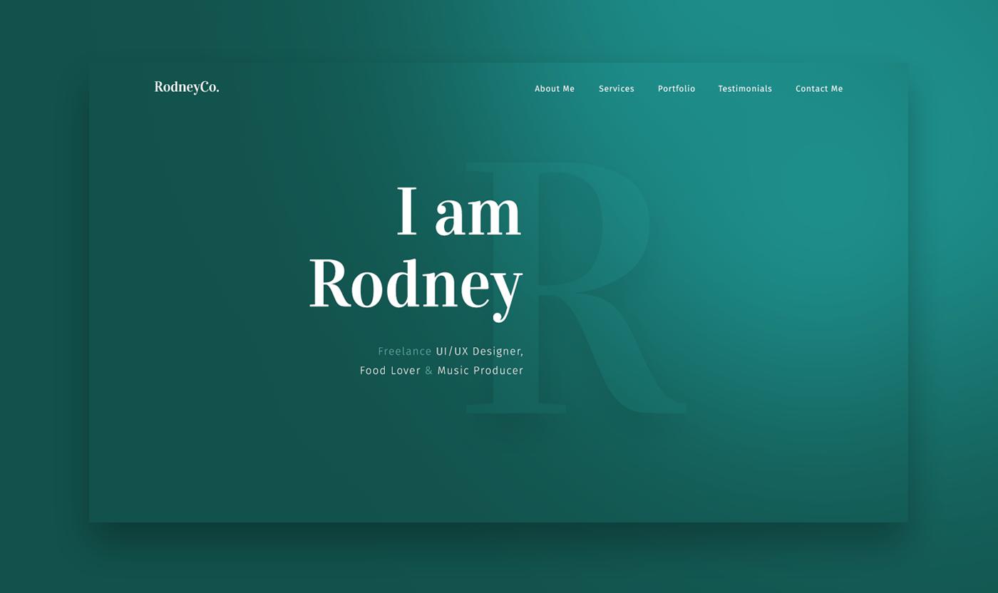 Rodney - PSD & Sketch Portfolio Template on Behance