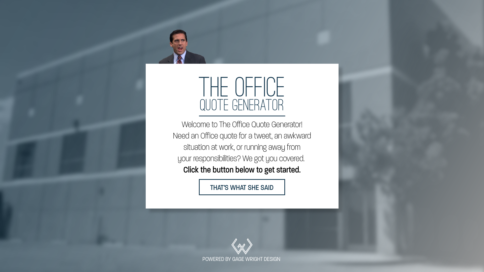 Quote Generator The Office Quote Generator On Behance
