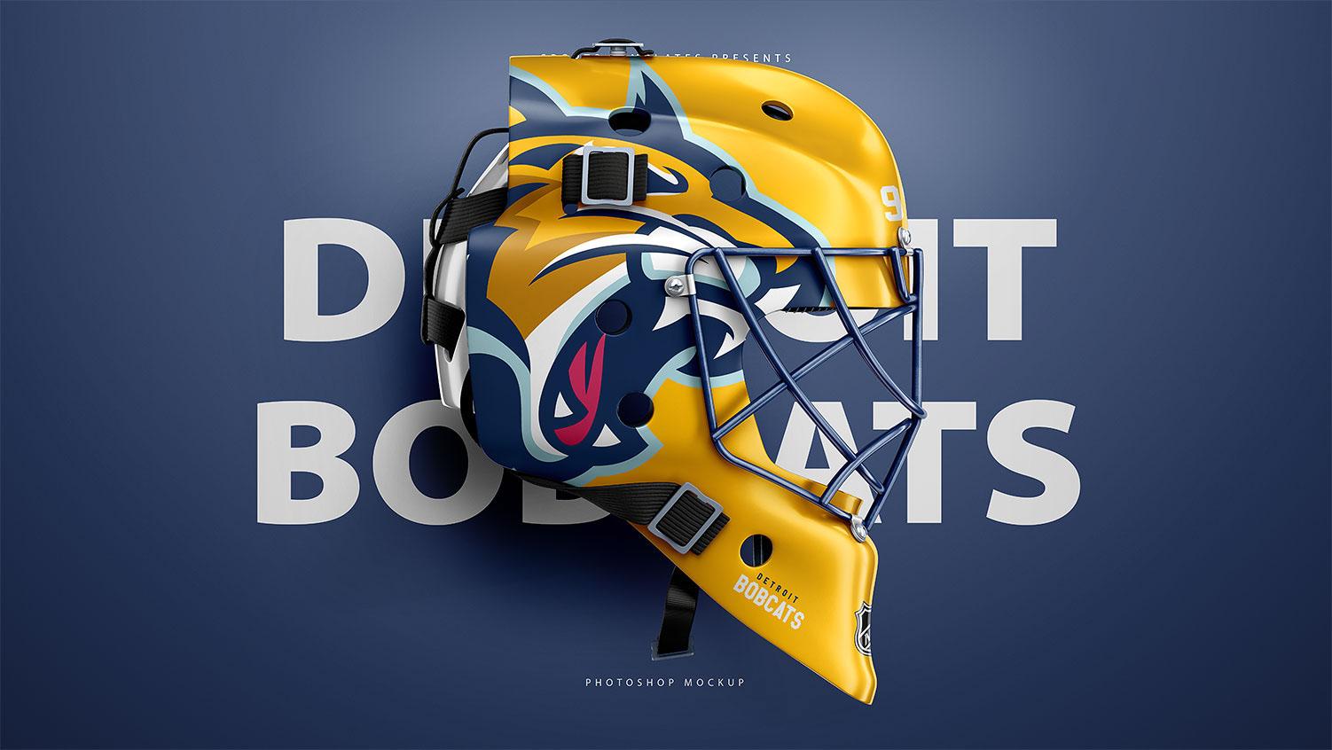 Hockey Goalie Mask Mockup Psd Template On Behance